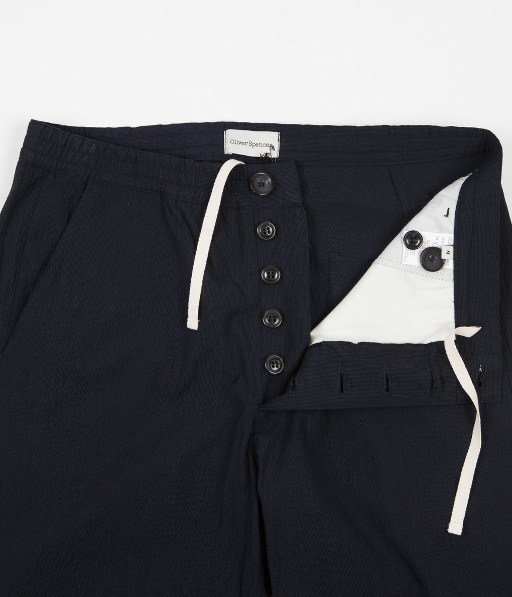 Oliver Spencer Drawstring Trousers - Portman Navy