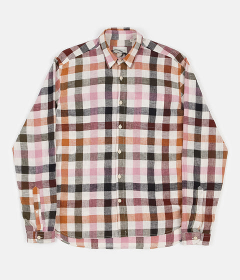 Oliver Spencer New York Special Shirt - Whitley Pink Multi
