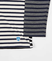 Orcival Stripe Long Sleeve T-Shirt - Harlequin Ecru