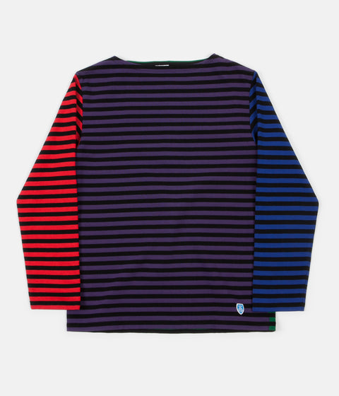 Orcival Stripe Long Sleeve T-Shirt - Harlequin Purple