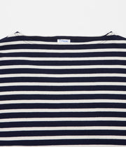 Orcival Stripe Long Sleeve T-Shirt - Marine / Ecru