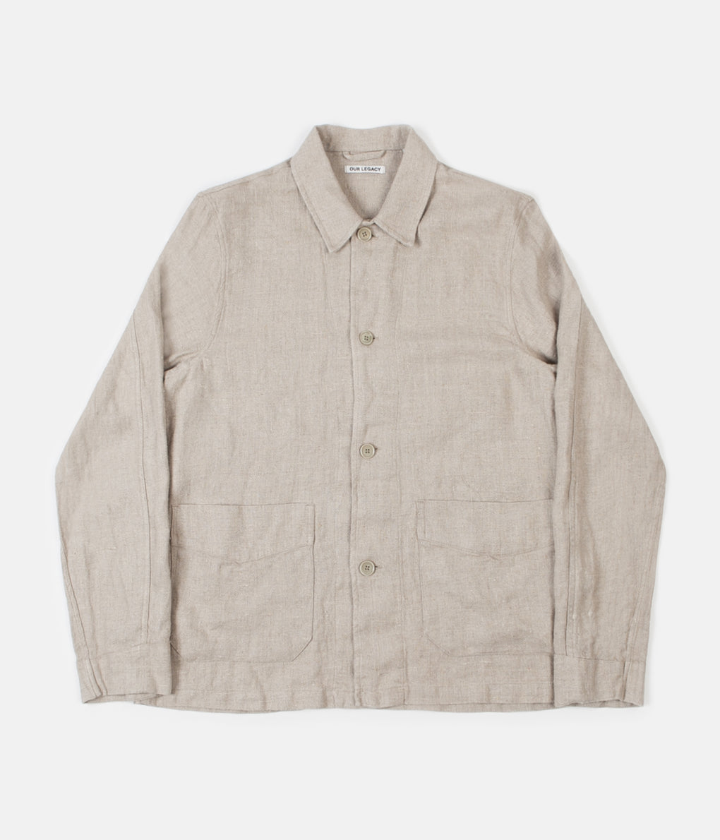 Our Legacy Box Archive Jacket - Raw Herringbone