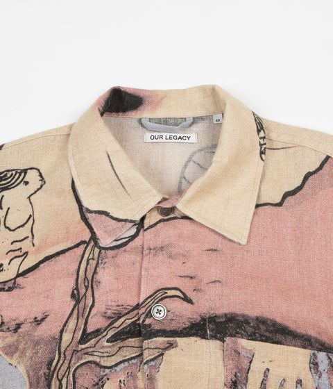 Our Legacy Box Short Sleeve Shirt - Acid Landscape Print
