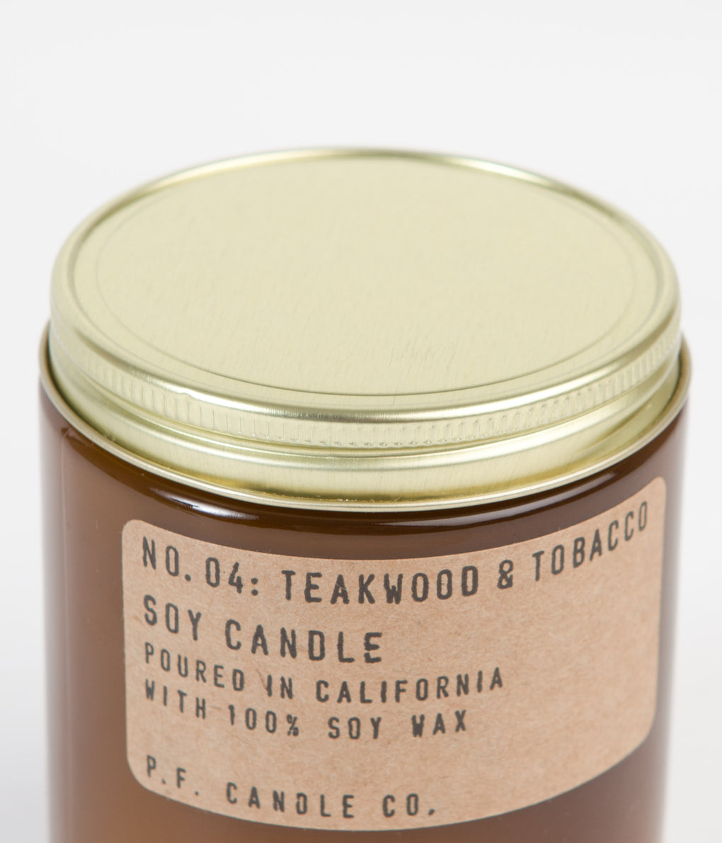 P.F. Candle Co. No. 04 Teakwood & Tobacco Soy Candle - 7.2oz