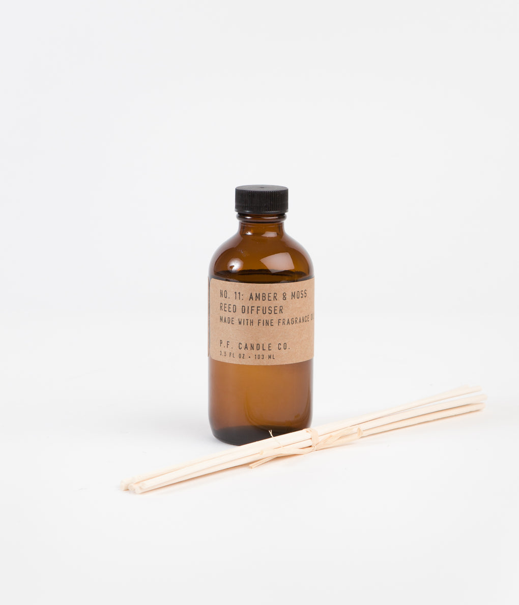 P.F. Candle Co. No. 11 Amber & Moss Reed Diffuser - 3oz