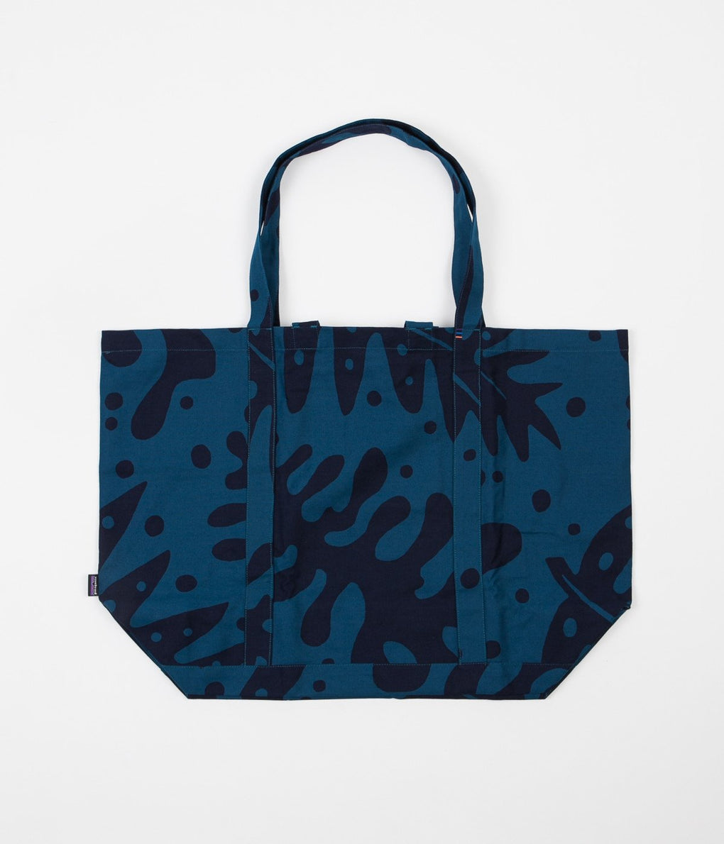 Patagonia All Day Tote Bag - Ferns / Big Sur Blue