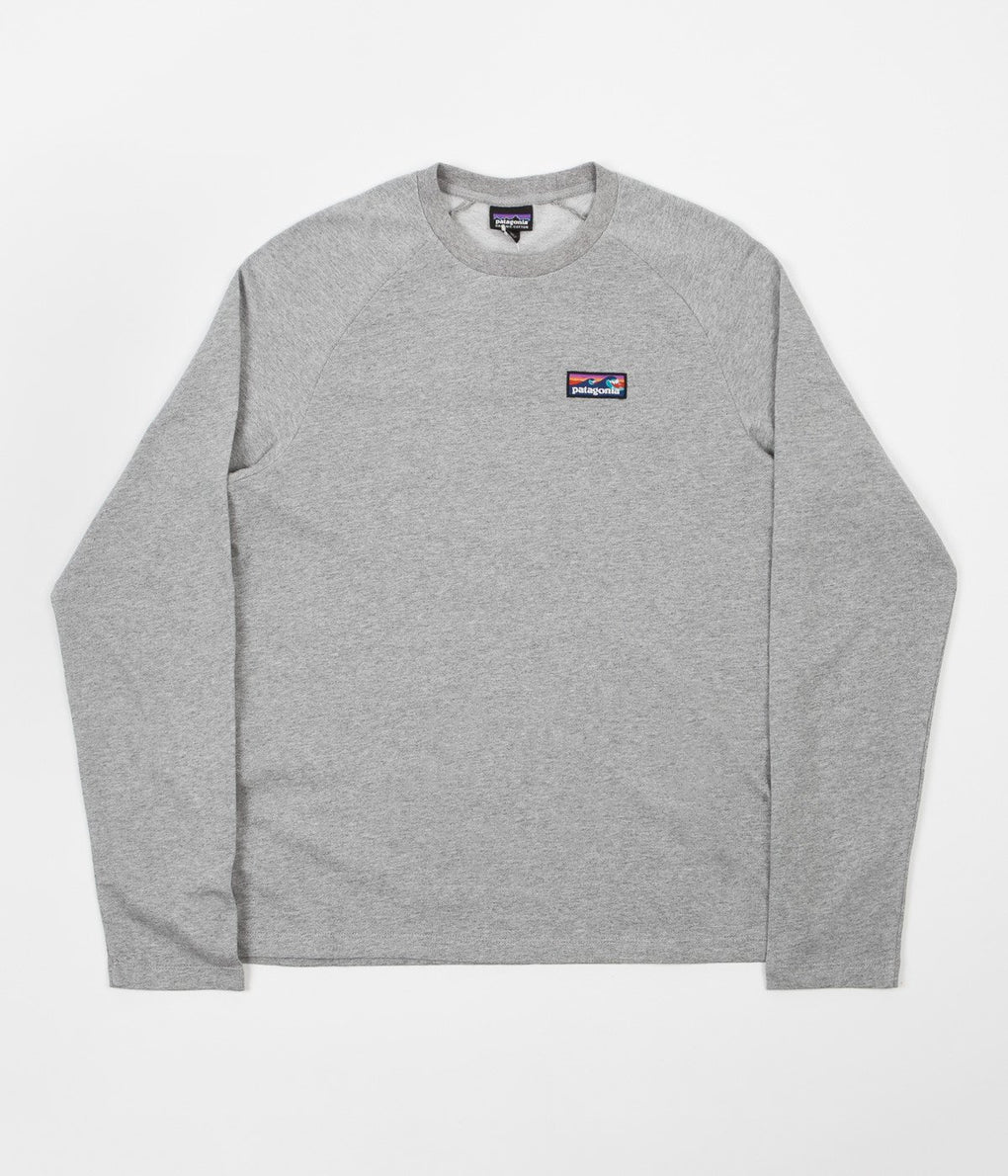Patagonia Board Short Label Crewneck Sweatshirt - Feather Grey