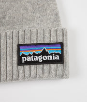 Patagonia Brodeo Beanie - P-6 Logo: Drifter Grey
