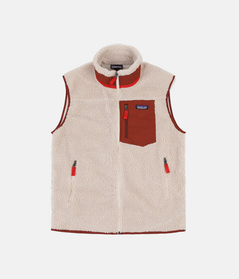Patagonia Classic Retro-X Vest - Natural / Barn Red