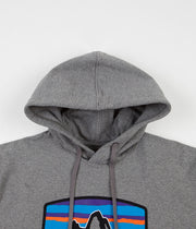 Patagonia Fitz Roy Horizons Uprisal Hoodie - Gravel Heather