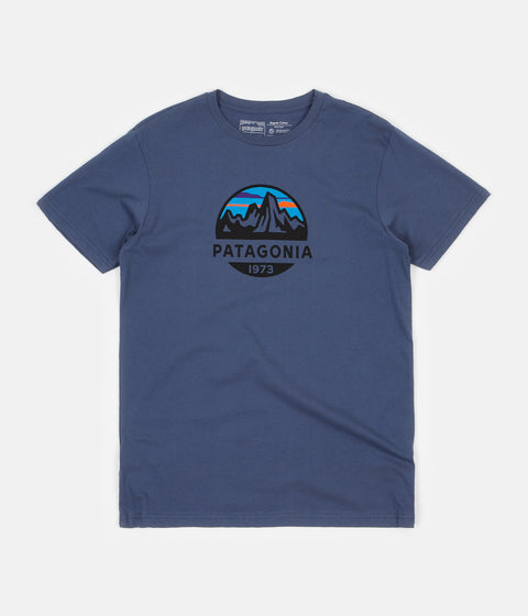 Patagonia Fitz Roy Scope Organic T-Shirt - Dolomite Blue