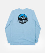 Patagonia Fitz Roy Scope Responsibili-Tee Long Sleeve T-Shirt - Break Up Blue