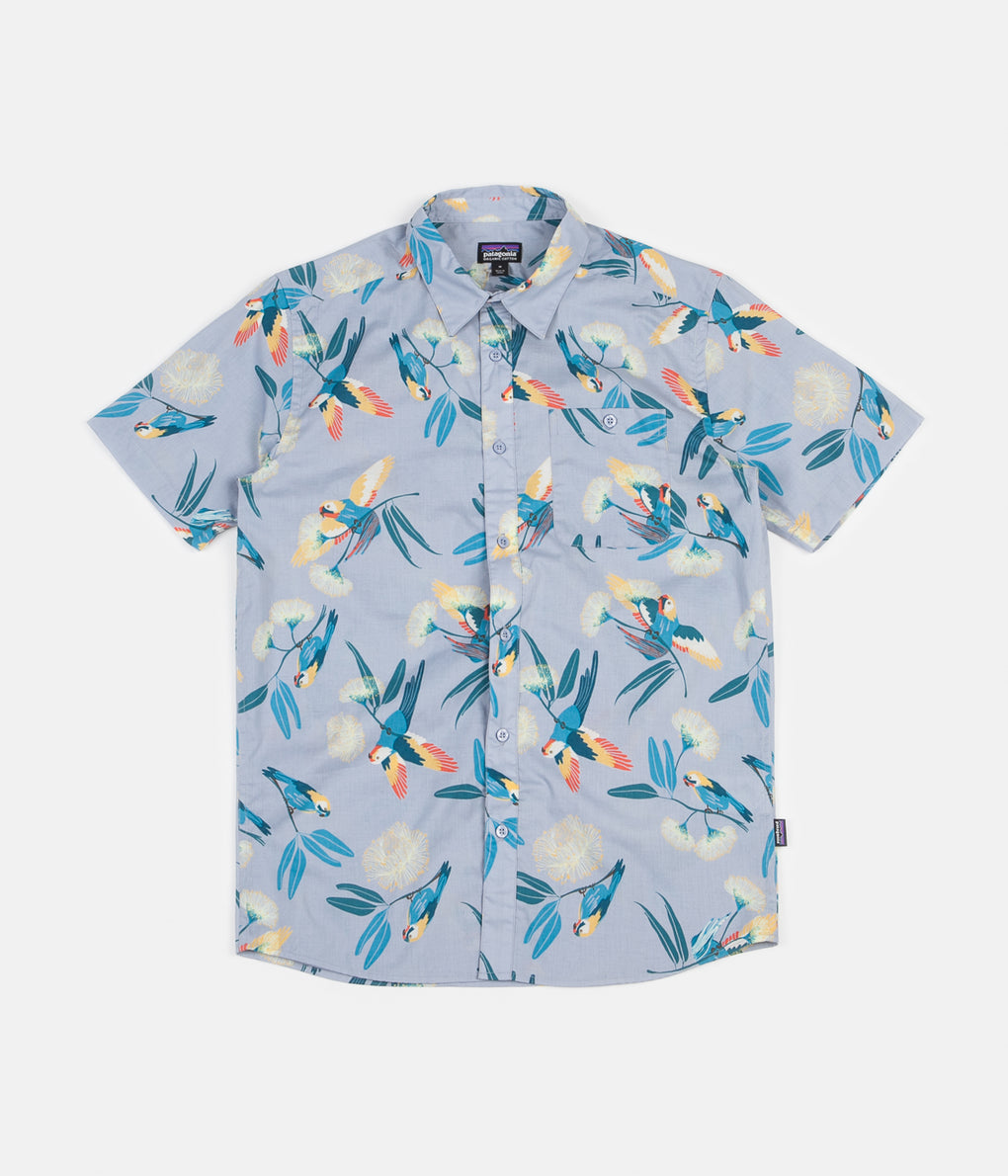 Patagonia Go To Shirt - Parrots: Ghost Purple