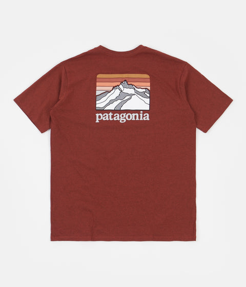 Patagonia Line Logo Ridge Pocket Responsibili-Tee T-Shirt - Barn Red