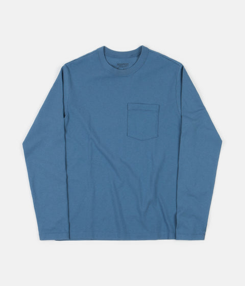 Patagonia Organic Cotton Midweight Long Sleeve Pocket T-Shirt - Pigeon Blue