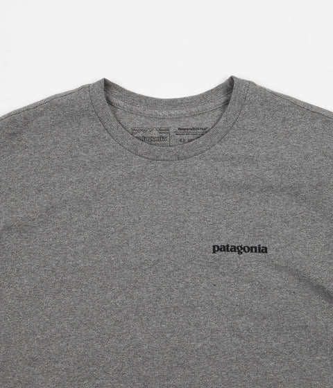Patagonia P-6 Logo Responsibili-Tee T-Shirt - Gravel Heather