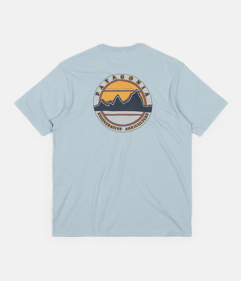 Patagonia Road to Regenerative Pocket T-Shirt - Big Sky Blue