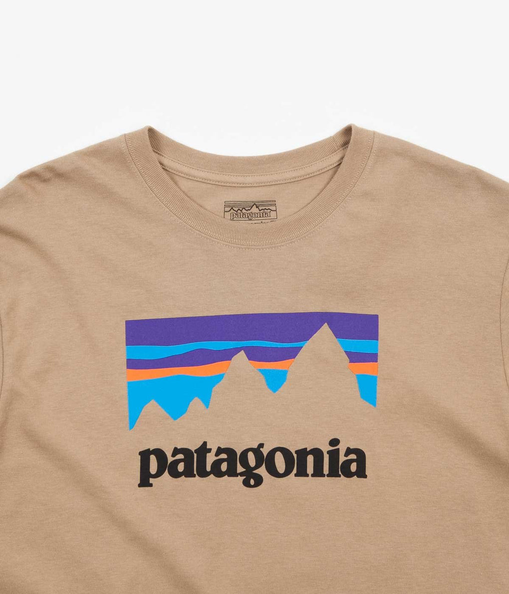 Patagonia Shop Sticker Long Sleeve T-Shirt - Mojave Khaki