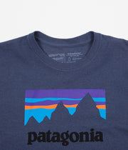 Patagonia Shop Sticker Responsibili-Tee Long Sleeve T-Shirt - Dolomite Blue