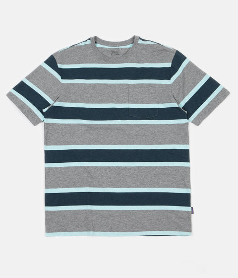 Patagonia Squeaky Clean Pocket T-Shirt - Rugby / Feather Grey