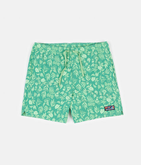 "Patagonia Stretch Wavefarer 16"" Volley Shorts - Fiber Flora: Light Beryl Green"
