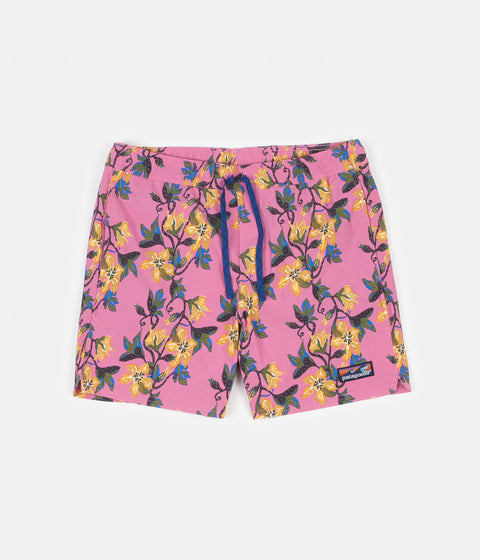 "Patagonia Stretch Wavefarer 16"" Volley Shorts - Squash Blossom: Marble Pink"