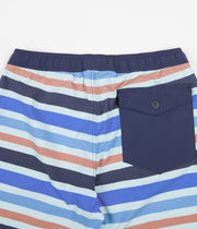"Patagonia Stretch Wavefarer 16"" Volley Shorts - Water Ribbons: Atoll Blue"