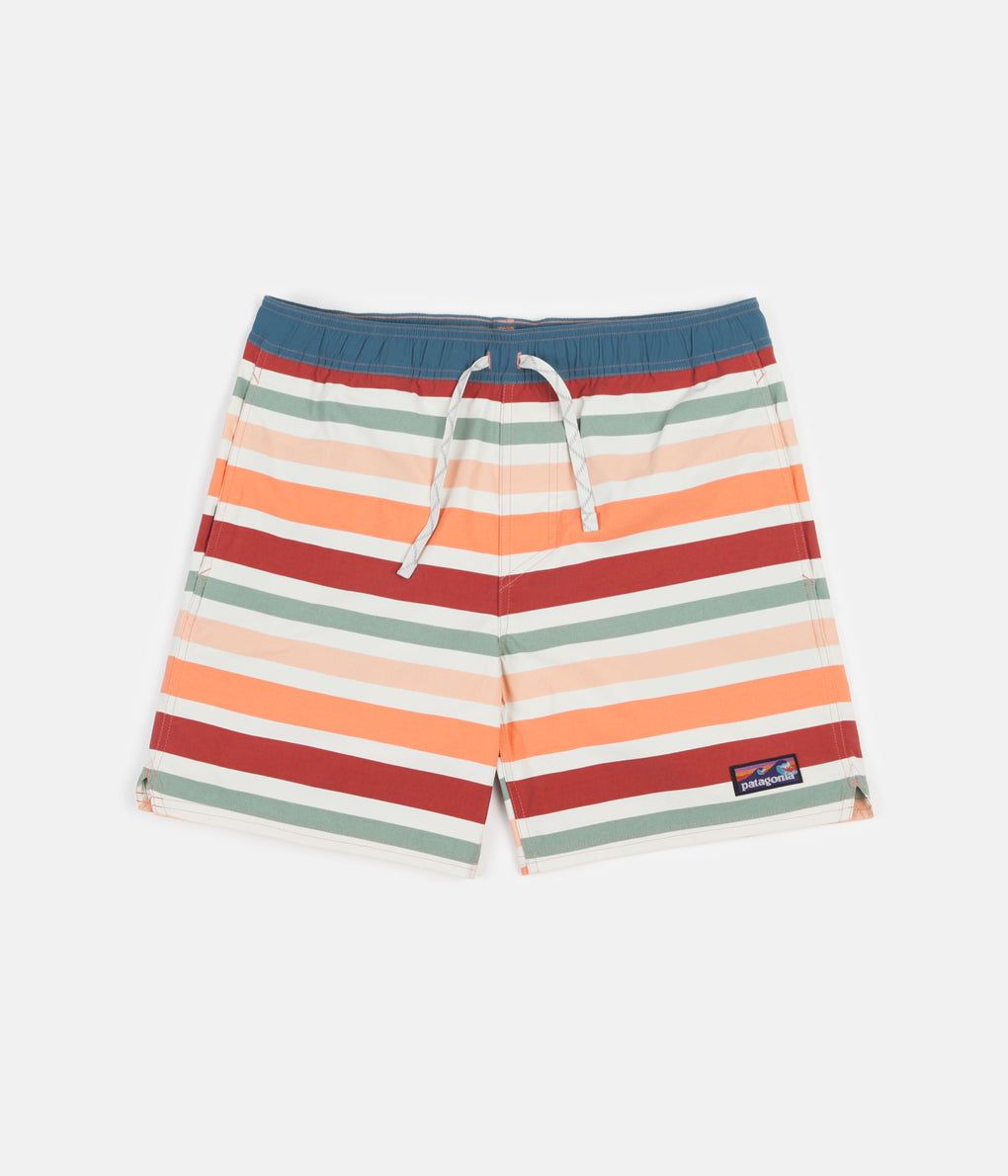 "Patagonia Stretch Wavefarer 16"" Volley Shorts - Water Ribbons: New Adobe"