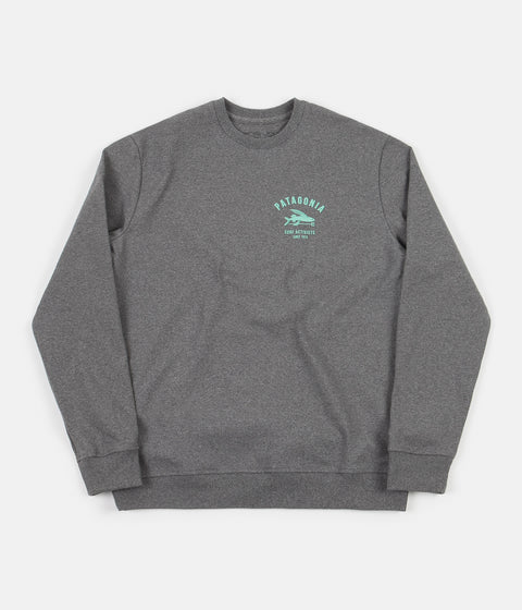 Patagonia Surf Activists Uprisal Crewneck Sweatshirt - Gravel Heather