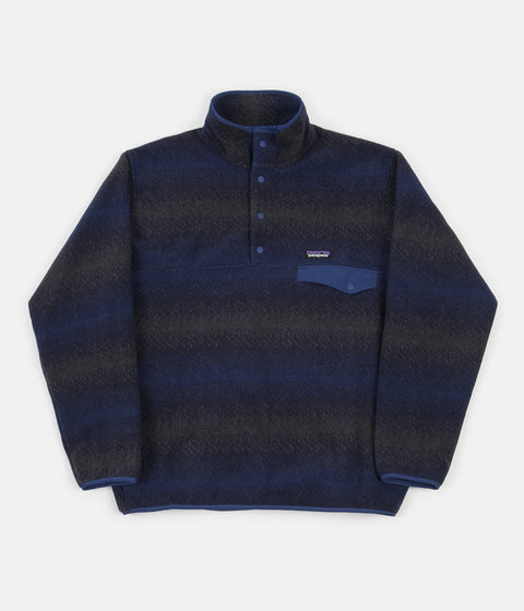 Patagonia Synchilla Snap-T Pullover Fleece - Gem Stripe / New Navy
