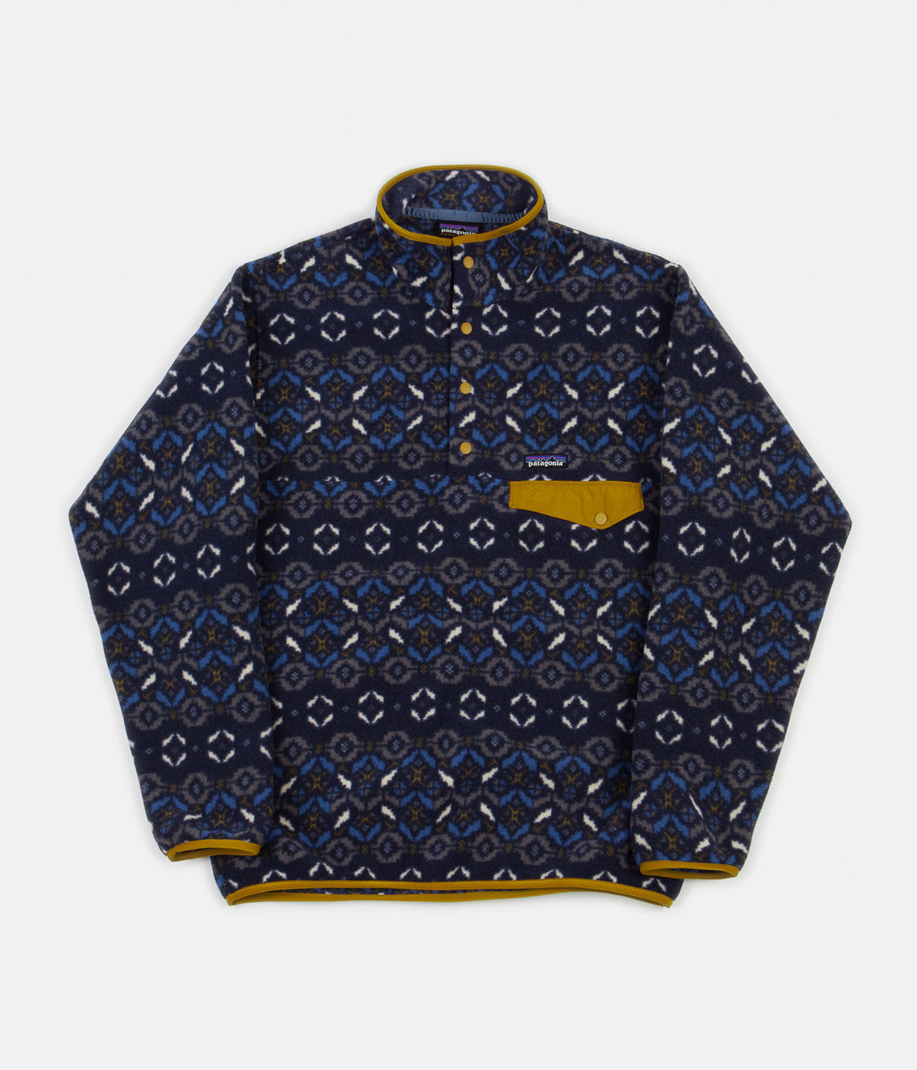 Patagonia Synchilla Snap-T Pullover Jacket - Tundra Cluster: New Navy