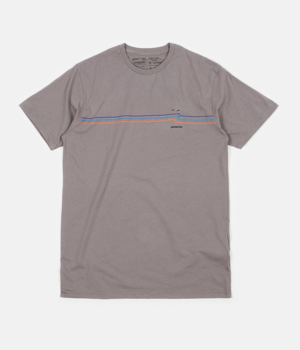 Patagonia Tide Ride Organic T-Shirt - Feather Grey
