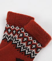 RoToTo Comfy Room Socks - Nordic Red