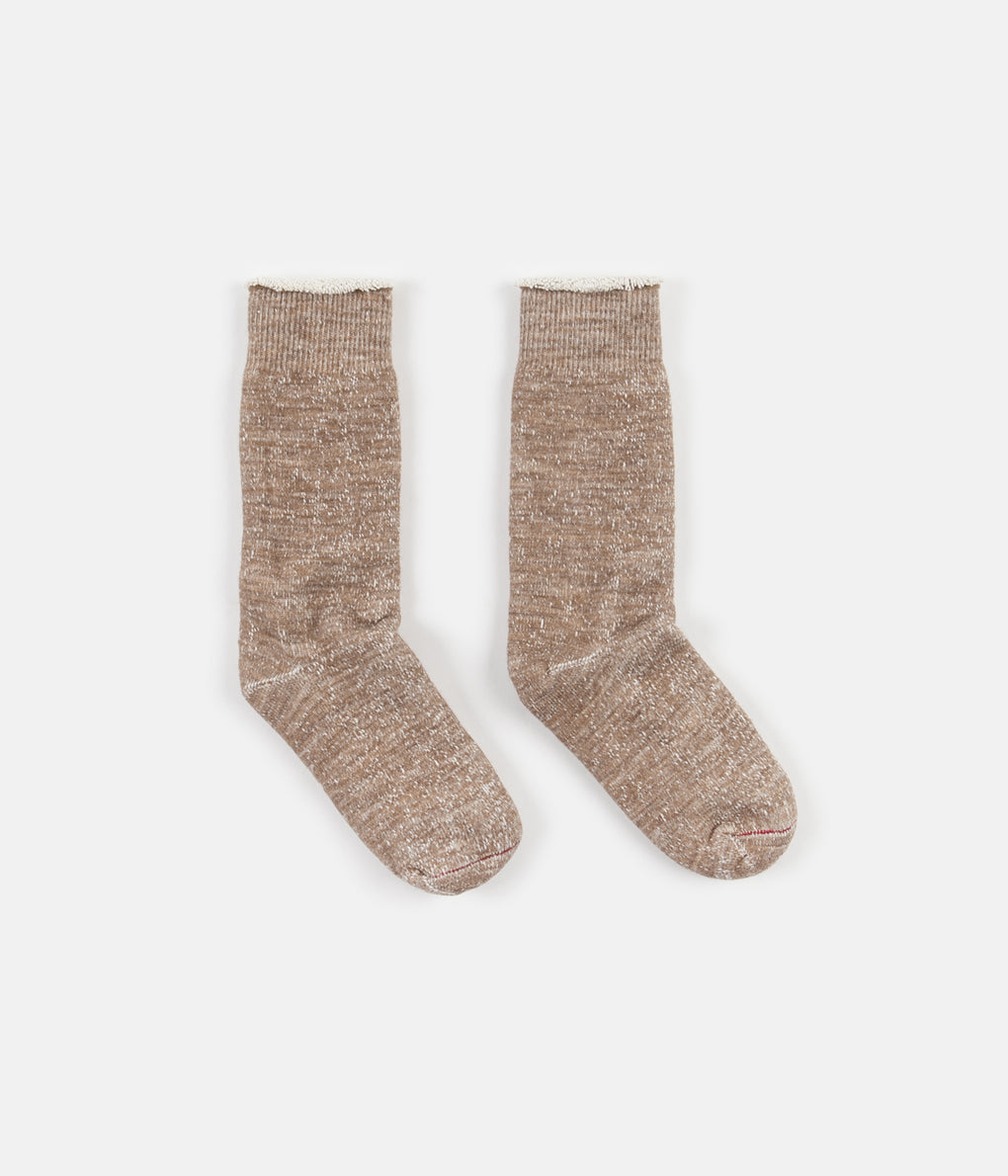 RoToTo Double Face Merino Blend Socks - Camel