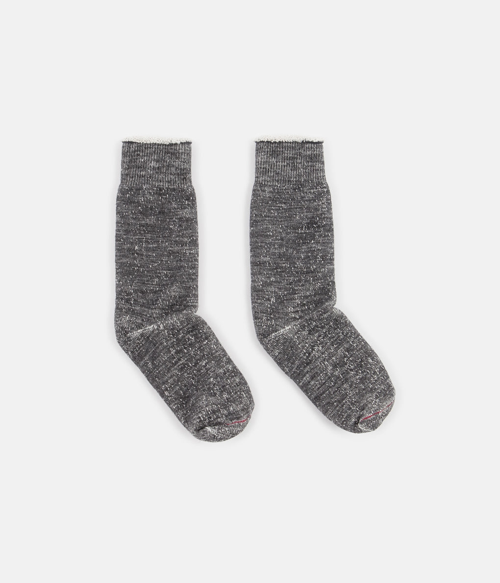 RoToTo Double Face Merino Blend Socks - Charcoal