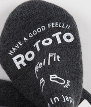 RoToTo Pile Slipper Socks - Charcoal