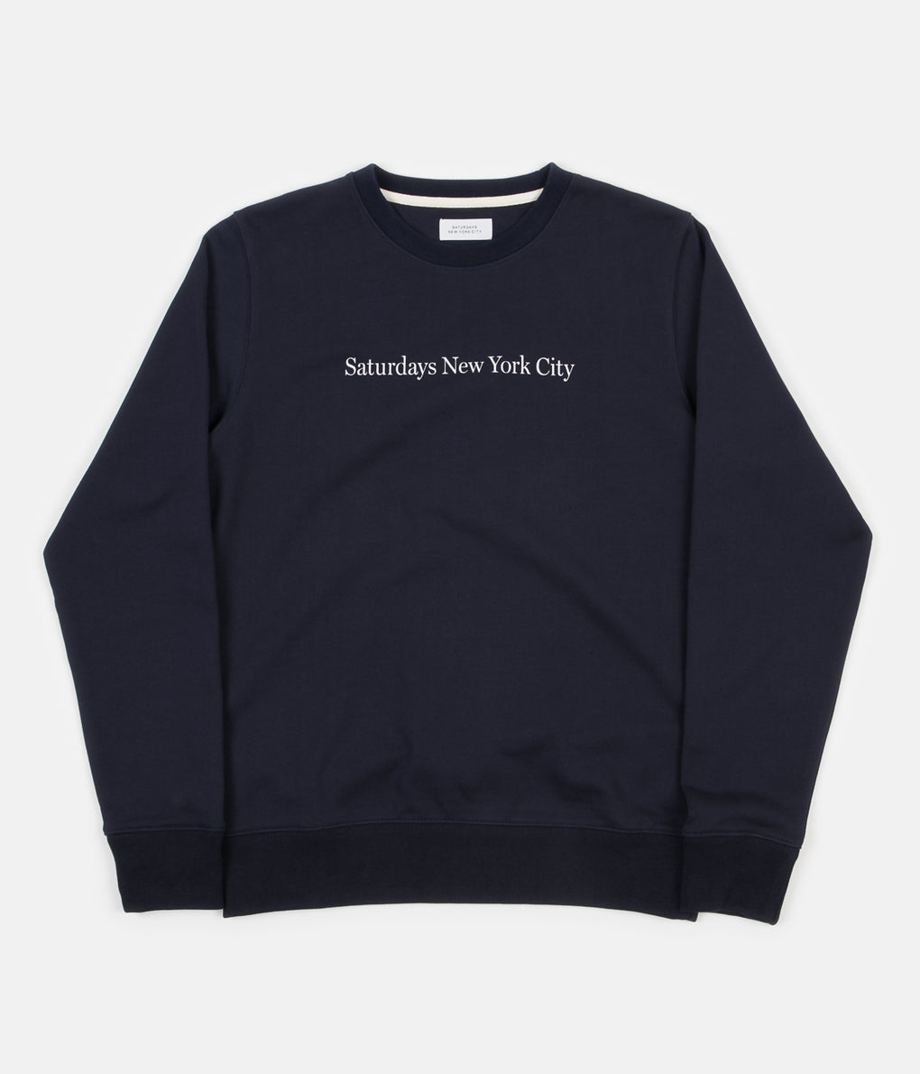 Saturdays NYC Bowery Crewneck Sweatshirt - Midnight