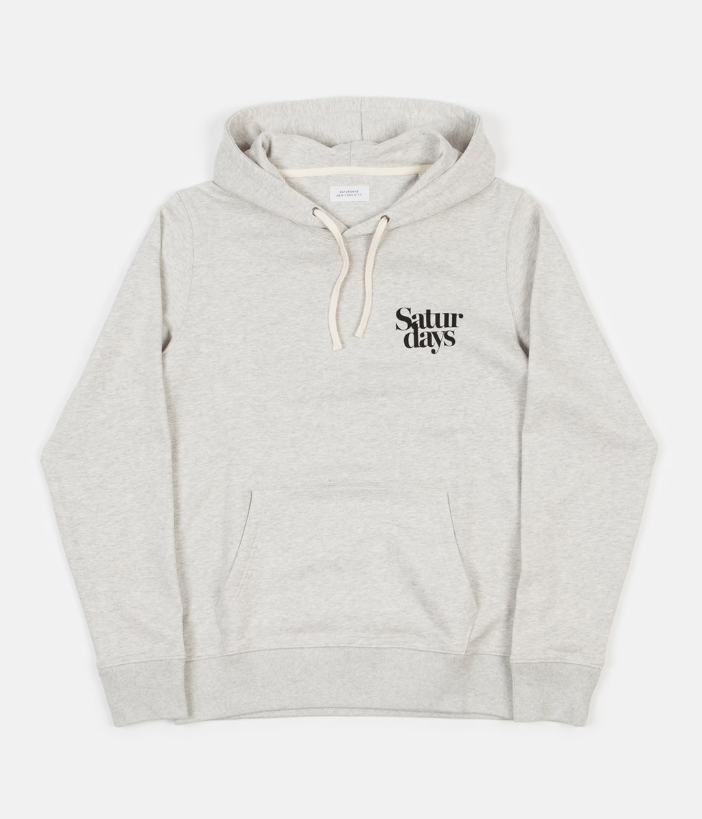 Saturdays NYC Ditch Millers Black Chest Hoodie - Natural Heather