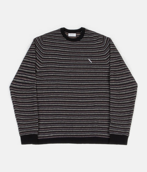 Saturdays NYC Lee Stripe Knitted Sweatshirt  - Black