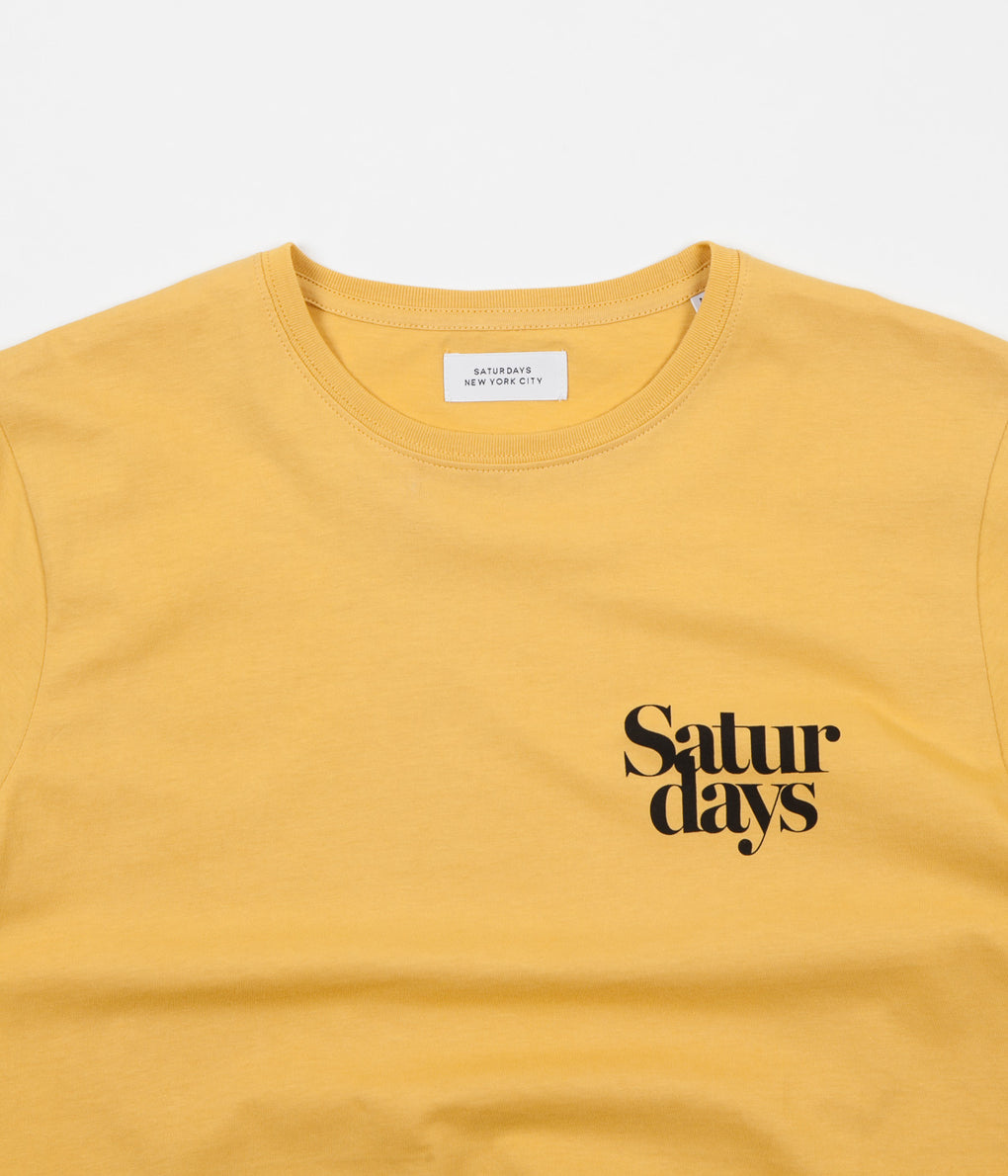 Saturdays NYC Miller Black Chest T-Shirt - Dusty Amber