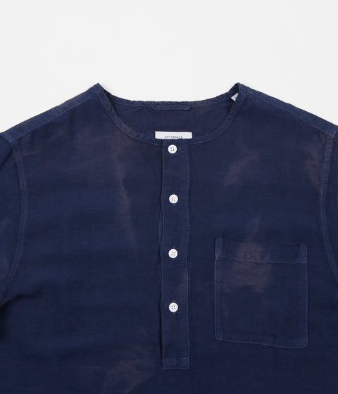 Saturdays NYC Pontus Linen Short Sleeve Shirt - Midnight Batik Dye