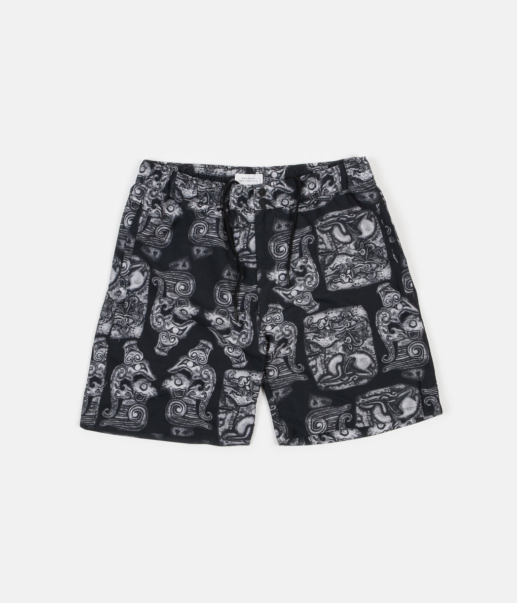 Saturdays NYC Trent Pendant Swim Shorts - Black