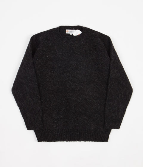 Shetland Woollen Co. Shaggy Crewneck Sweatshirt - Charcoal