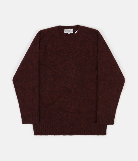 Shetland Woollen Co. Shaggy Crewneck Sweatshirt - Ruby