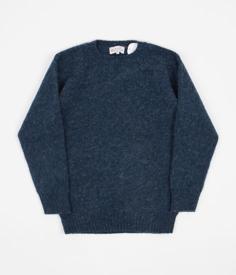 Shetland Woollen Co. Shaggy Crewneck Sweatshirt - Atlantic