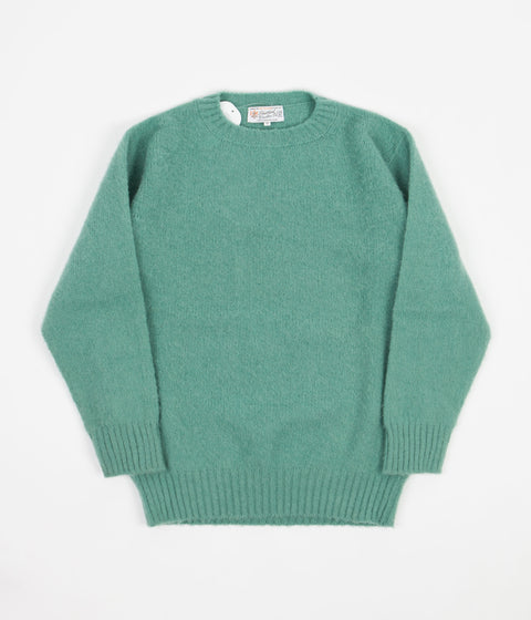 Shetland Woollen Co. Shaggy Crewneck Sweatshirt - Mint
