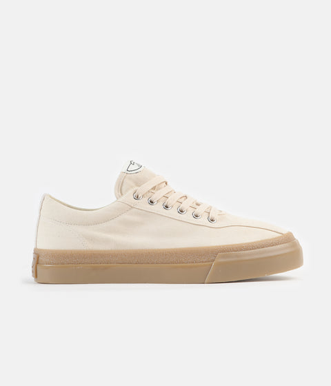 Stepney Workers Club Dellow Canvas Shoes - Raw Ecru / Gum