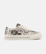 Image for Stepney Workers Club Dellow Magazine Print Canvas Shoes - Ecru