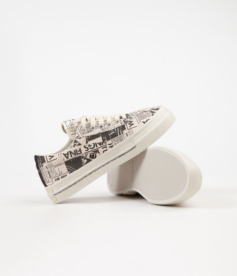 Stepney Workers Club Dellow Magazine Print Canvas Shoes - Ecru