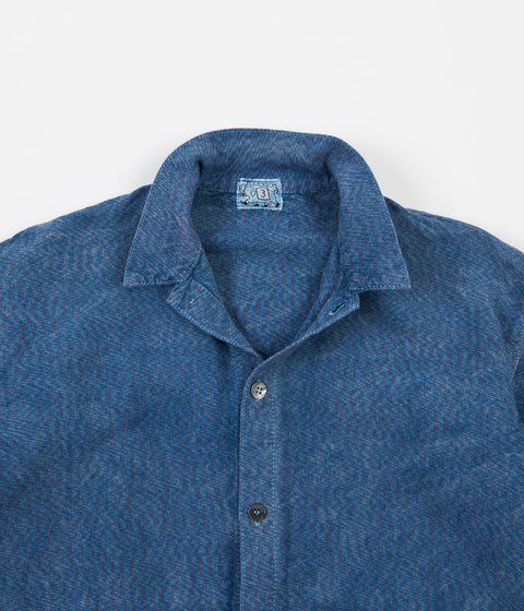 Tender Folded Pocket Shirt - Prussian Blue / Tricolore